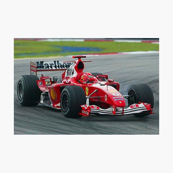Michael Schumacher in the 2004 Ferrari during the Malaysian Grand Prix Photographic Print