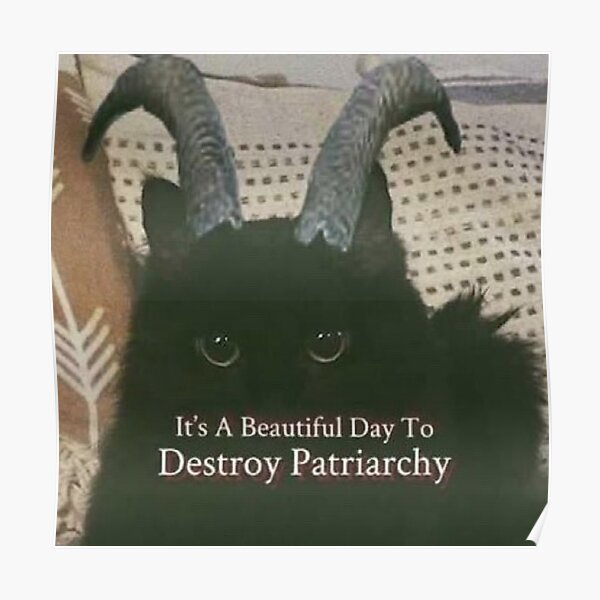 DEVIL CAT - It's A Beautiful Day To Destroy Patriarchy Poster