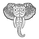 Elephant Zentangle by Meaghan Roberts