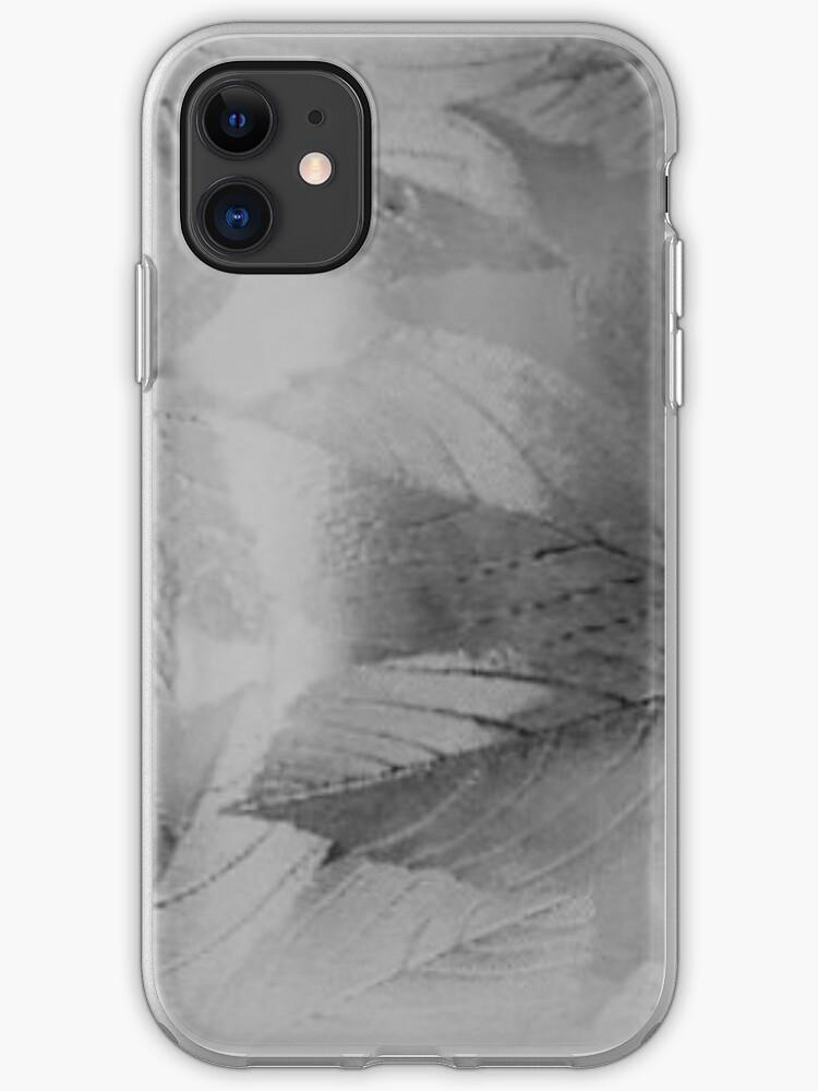 Black White Silver Leaves Zen New Design Iphone Case Cover By Ludje 48 Redbubble