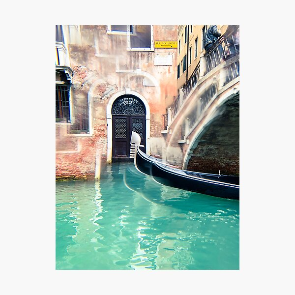 Gondola on the Canal in Venice Mini Art Print Photographic Print