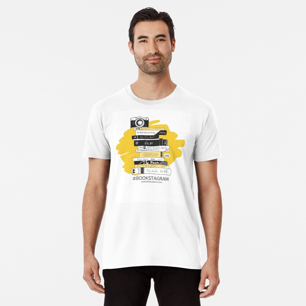 Book Photography Hashtag Bookstagram Premium T-Shirt