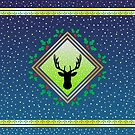 Herne the Hunter - Arctic Blue Fresco by Hypnogoria