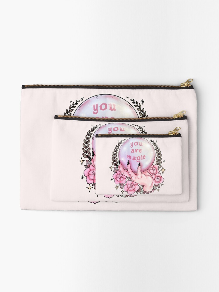 Alternate view of You Are Magic *pink* Zipper Pouch