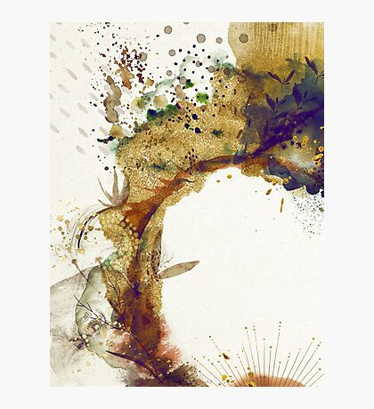 Abstract Floral - Autumn Winds Photographic Print