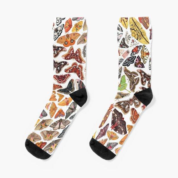 Saturniid Moths of North America Pattern Socks