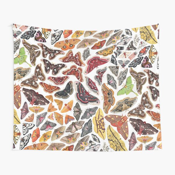 Saturniid Moths of North America Pattern Tapestry