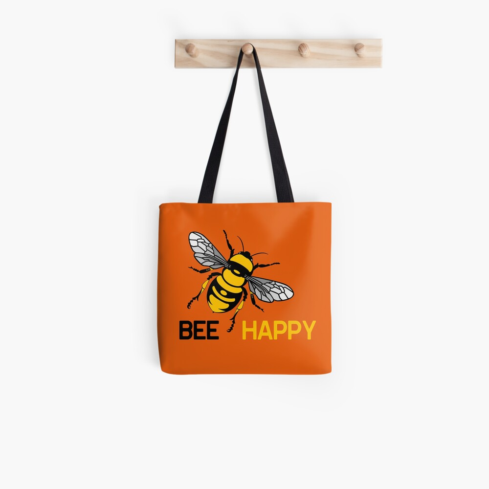 Tote bag « Bee Happy by IxCÖ»