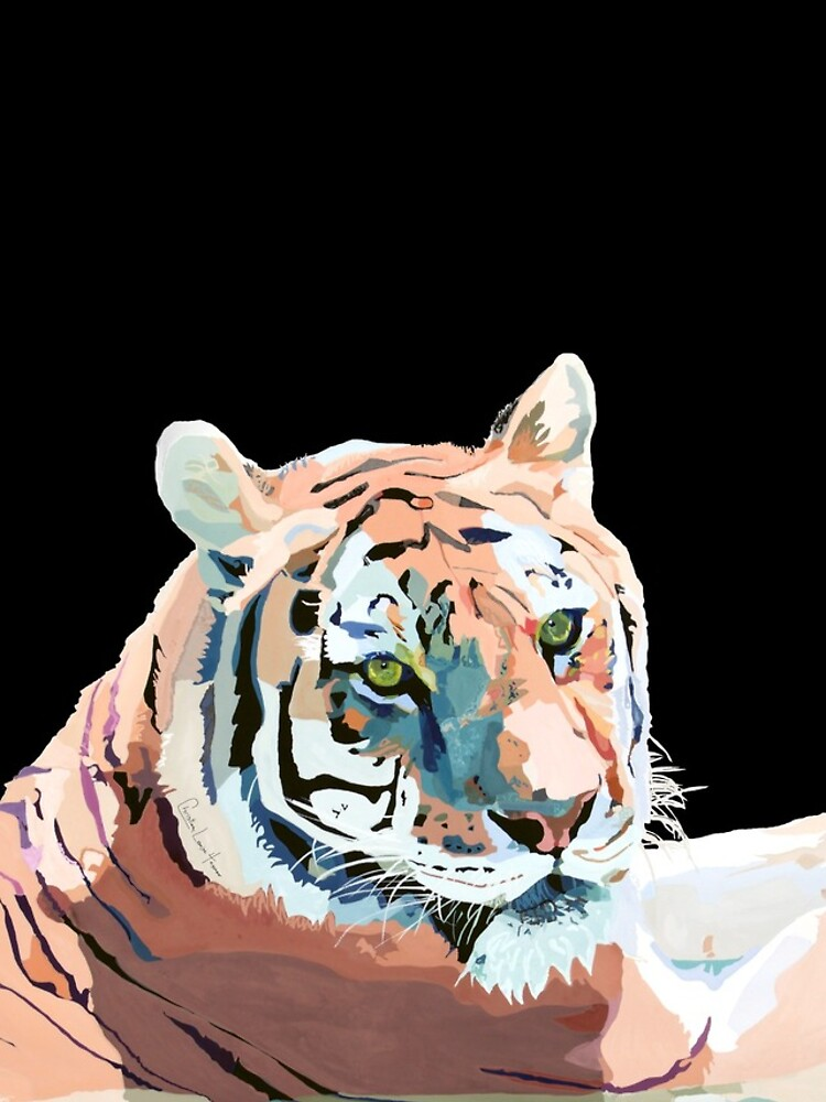 Tiger No.2 Black  by christinahewson