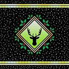 Herne the Hunter - Snowy Night Fresco by Hypnogoria