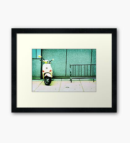 At Lunch Framed Print
