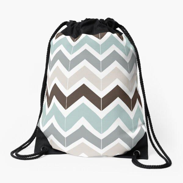 Seaside Chevron Drawstring Bag