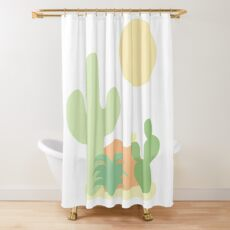 Minimalist Desert Shower Curtain