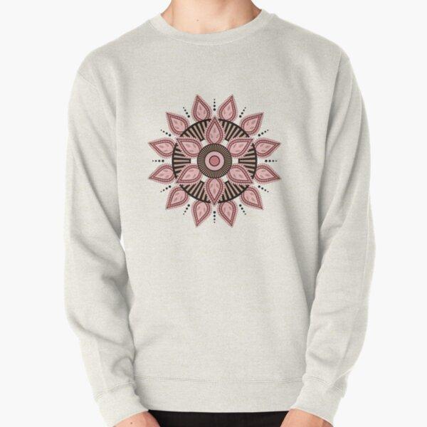 Wheel Of Life Mandala Transparent Pullover Sweatshirt
