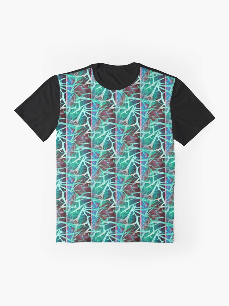 Alternate view of Ice And Fire - Turquoise Graphic T-Shirt