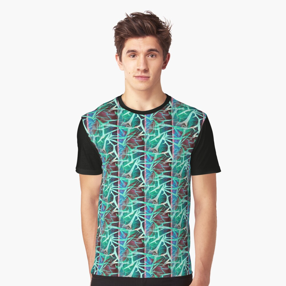 Ice And Fire - Turquoise Graphic T-Shirt