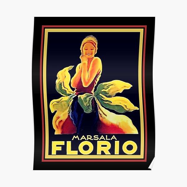 1925 Art Deco Florio Marsala Wine Ad  Poster