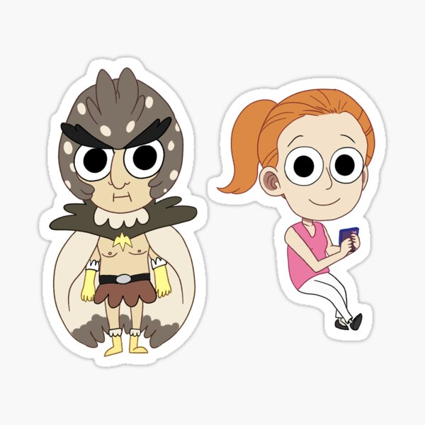 mini birdperson and summer Sticker