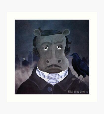 Edgar Allan Hippo Art Print