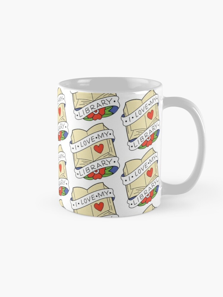 Alternate view of I Love My Library Mug