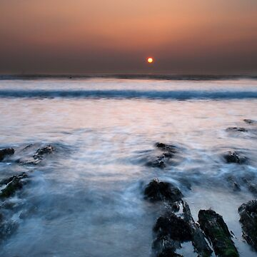 Woolacombe at sunset  by JoshGlover