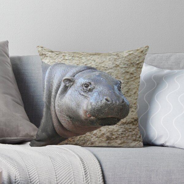 Pygmy Hippopotamus Throw Pillow