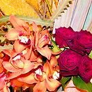 Orchids and Roses by Elenne Boothe
