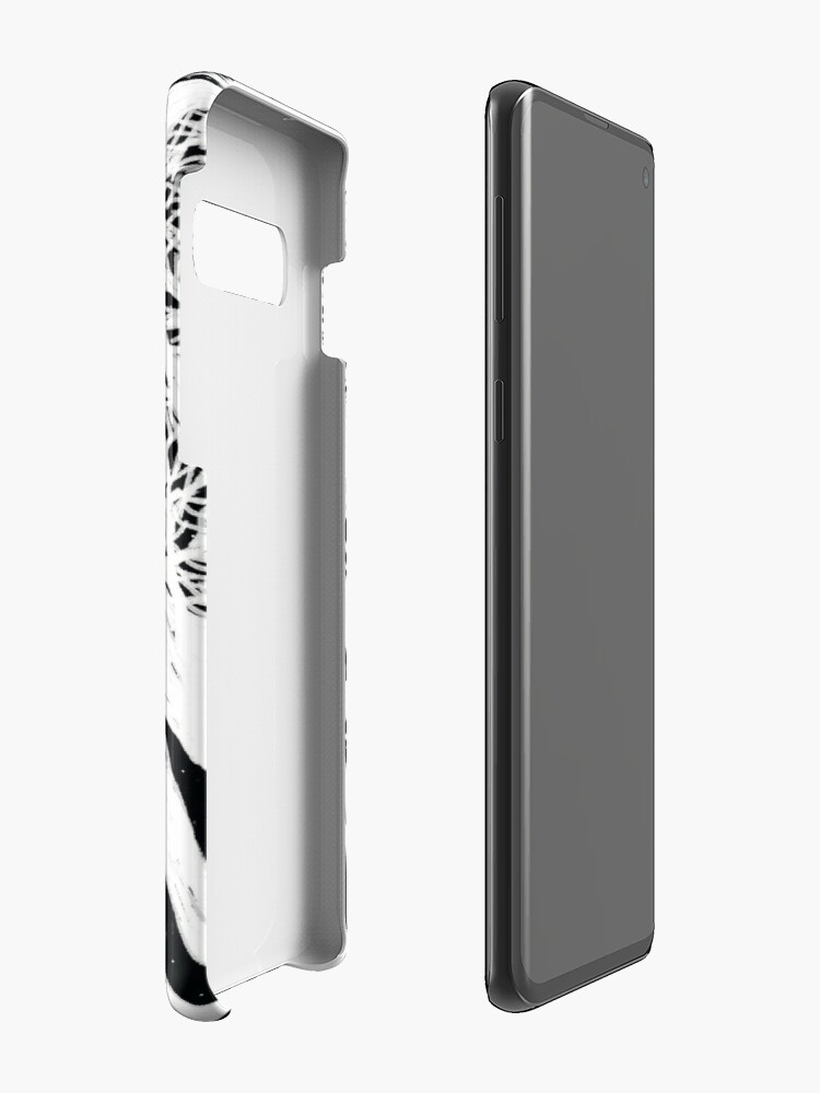 Alternate view of black and white illustration, night in the wood with stars and moon Case & Skin for Samsung Galaxy