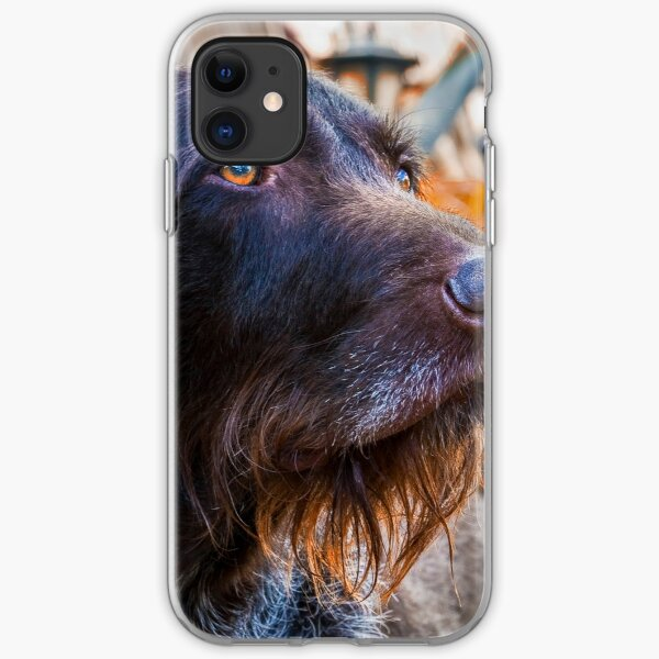 German Wirehaired Pointer Portrait iPhone Soft Case