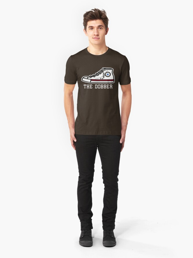 "Alternate view of ""The Dobber"" Bob Lanier Size 22 shoe Slim Fit T-Shirt"