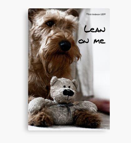 Lean on me Canvas Print