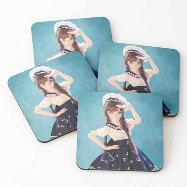 In the navy · Melocotón Coasters (Set of 4)