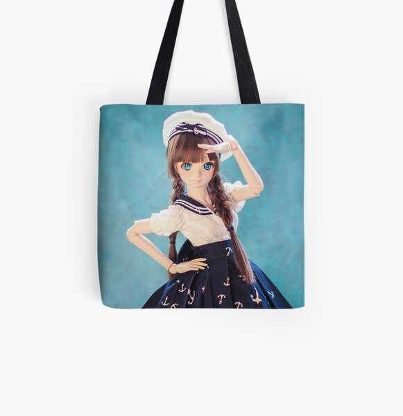In the navy · Melocotón All Over Print Tote Bag