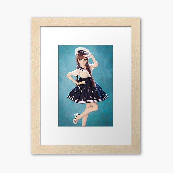 In the navy · Melocotón Framed Art Print