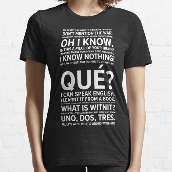 Fawlty Towers Quotes Essential T-Shirt