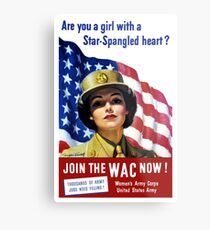 Join The WAC Now -- Army Recruiting Metal Print