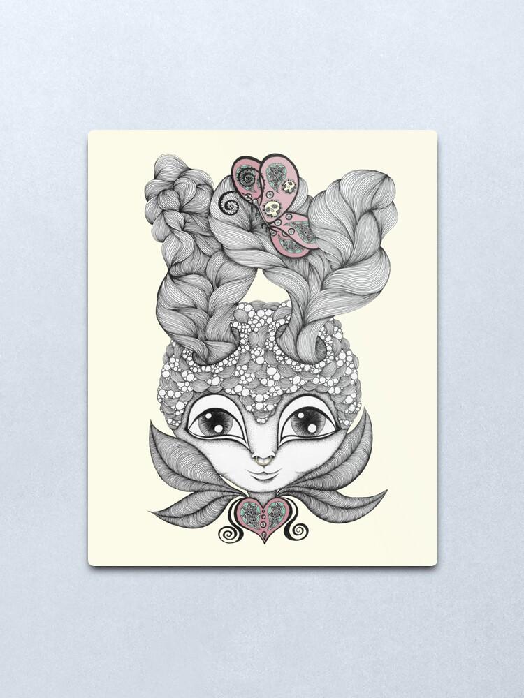 Alternate view of Lady Antelope Metal Print