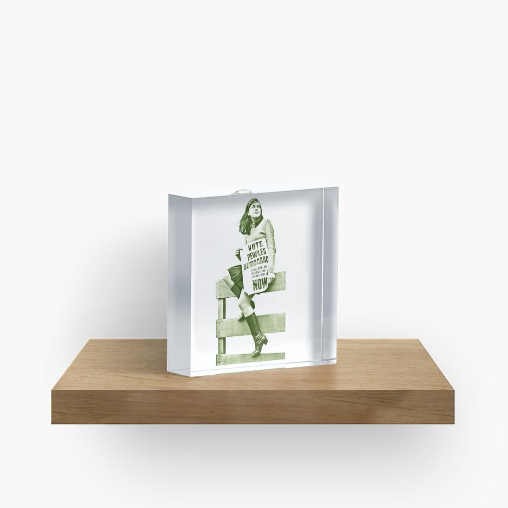 Bernadette Devlin / Retro Irish Fanart  Acrylic Block