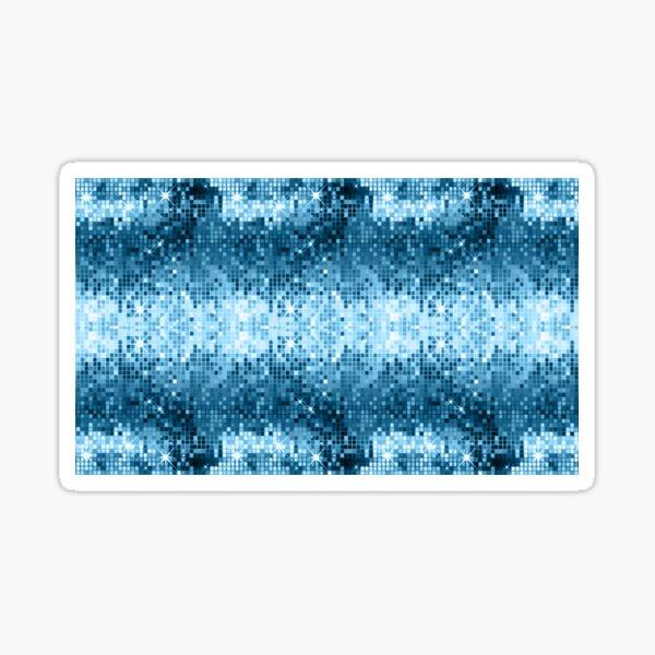 Blue tones geometric sparkling disco mirrors Sticker