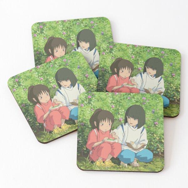 Miyazaki Anime Spirited Away Coasters Set Of 4 By Animateastory Redbubble