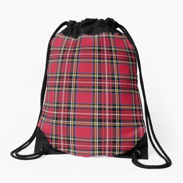 Red Tartan Drawstring Bag