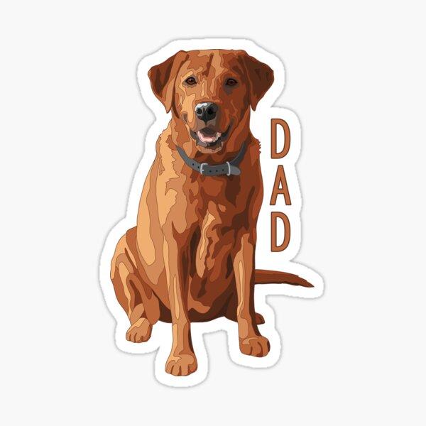 Lab Dad Fox Red Labrador Retriever Dog Sticker