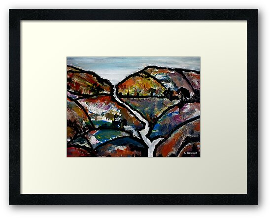 Landscape - Abstract Collage 2011 by Angela Gannicott