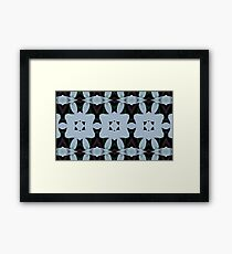 SKY BLUE LATTICE: Kaleider pattern 02 Framed Print
