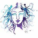 Purple Mermaid by Gambargombor