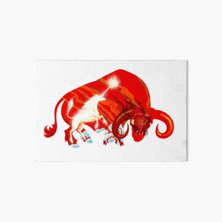 The Last Unicorn Defeats The Red Bull Art Board Print