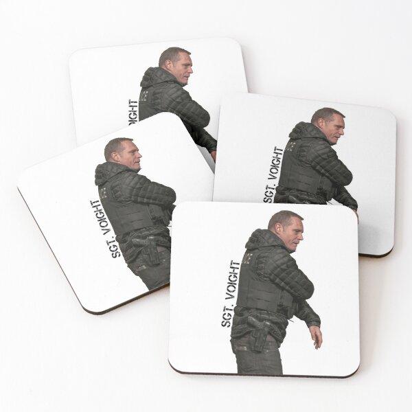 CHICAGO P.D - SERGEANT HANK VOIGHT - JASON BEGHE Coasters (Set of 4)