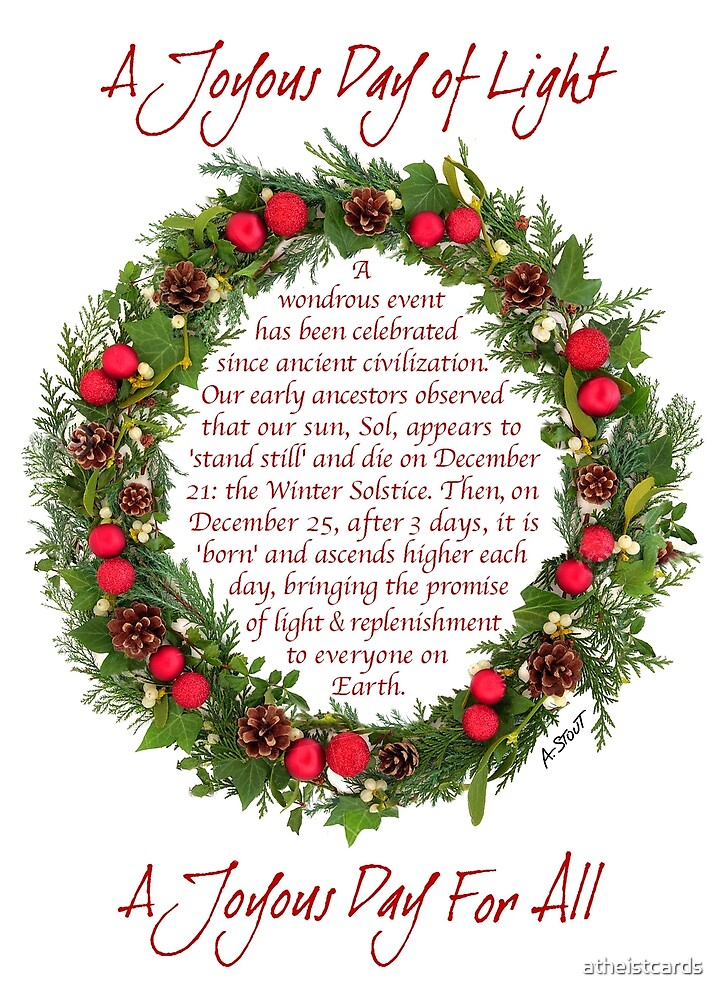 Dec 25 celebrates the Sun—not a Son! by atheistcards