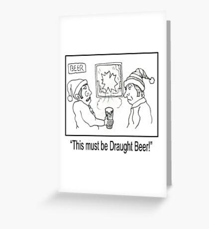 Funny Pub Cartoon. Greeting Card