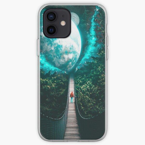Galactic Gateway Forest Bridge iPhone Soft Case